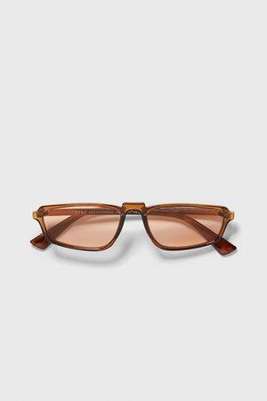 Zara Okulary przeciwsłoneczne w prostokątnej oprawce