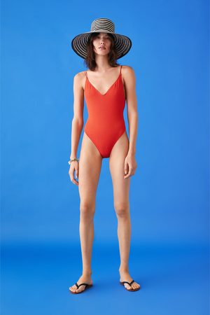 Zara Teksturowany kostium kąpielowy