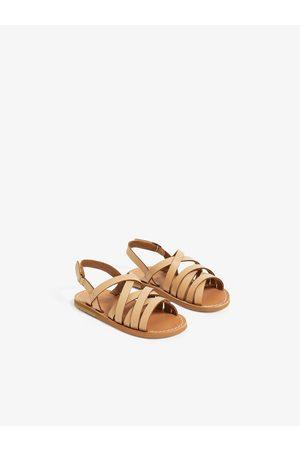Zara Dziecko Sandały - Strappy leather sandals