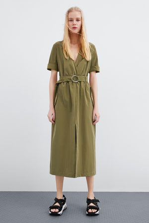 Zara Kobieta Sukienki - Sukienka z paskiem
