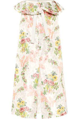 BROCK COLLECTION Exclusive to Mytheresa – Peplum floral silk-blend skirt