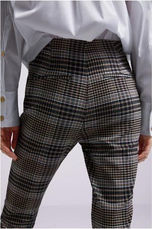 Zara Spodnie w kratę