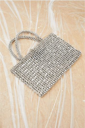 Zara Mini torebka typu shopper z metalizowanym wykończeniem