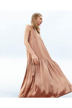 Zara Asymetryczna sukienka z łączonych tkanin