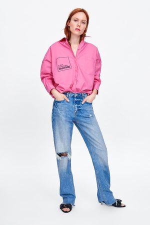 Zara Koszula oversize z popeliny