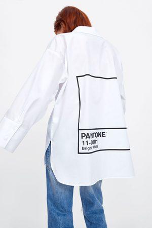 Zara Koszula oversize z nadrukiem pantone®