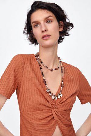 Zara Koszulka z wiązaniem