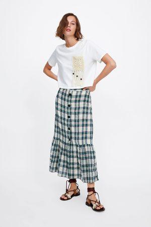 Zara Koszulka z makramową kieszenią