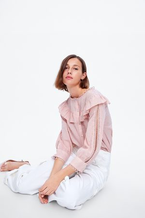 Zara Bluzka z tkaniny plumeti