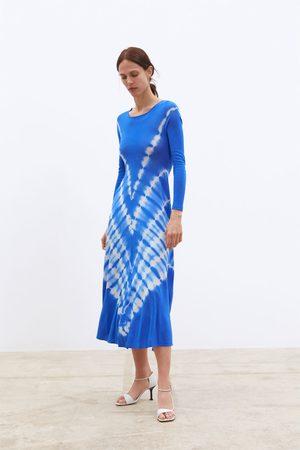 Zara Sukienka z dzianiny farbowanej metodą tie dye