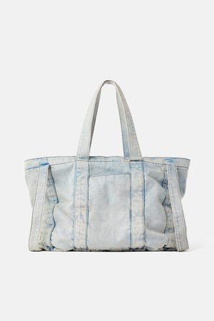 Zara Torba jeansowa typu shopper