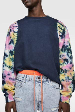 Zara Bluza z rękawami farbowanymi metodą tie dye