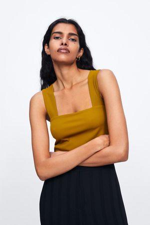 Zara Krótki top na ramiączkach
