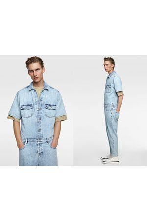 Zara Kombinezon jeansowy