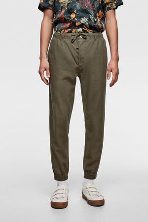 Zara Mężczyzna Spodnie dresowe - Luźne spodnie joggery