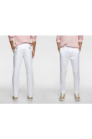 Zara Mężczyzna Chinosy - Dopasowane spodnie chinosy