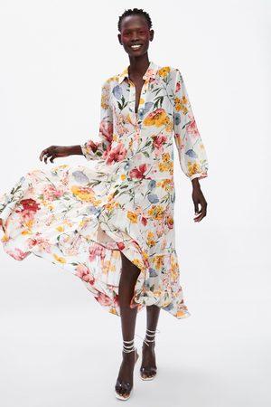 6a3e27b9ff materiał damskie sukienki z nadrukiem Zara