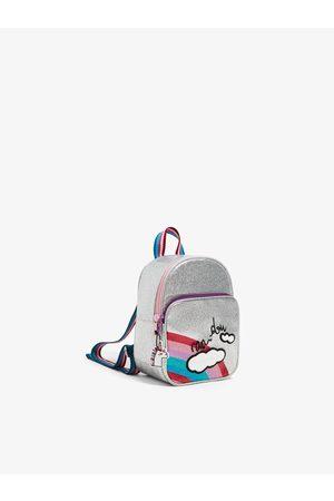 Zara Mini plecak z błyszczącymi akcentami i tęczą