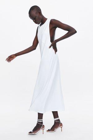 Zara Sukienka z dekoltem z tyłu