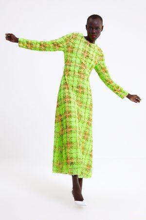Zara Sukienka w kratę z cekinami z limitowanej edycji