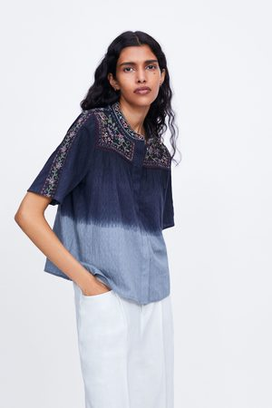 Zara Tie-dye blouse with embroidery