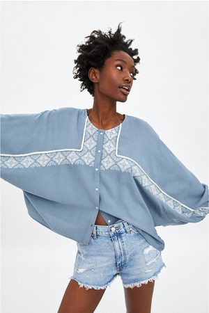 Zara Koszula z haftem