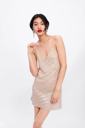Zara Sukienka mini z cekinami