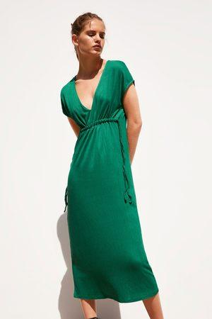Zara Kobieta Sukienki - Sukienka z tkaniny strukturalnej