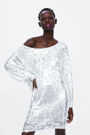 Zara Kobieta Sukienki mini - Sukienka mini z cekinami