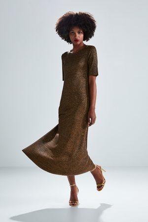 Zara Kobieta Sukienki - Sukienka z metalizowaną nicią