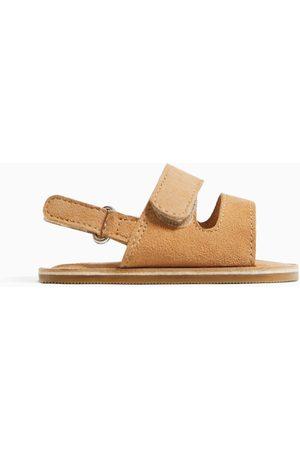 Zara Dziecko Sandały - Skórzane sandały