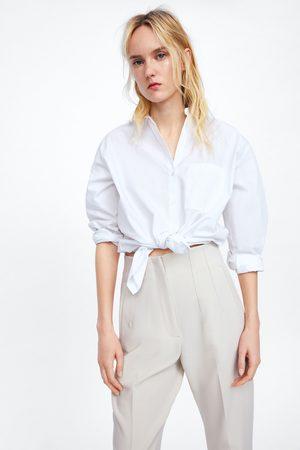 Zara Kobieta Spodnie - High waist trousers
