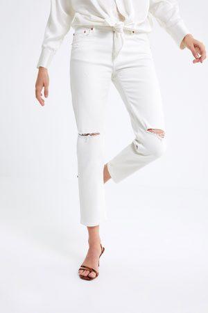 Zara Spodnie jeansowe zw premium slim boyfriend