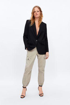 Zara Spodnie jeansowe typu cargo zw premium