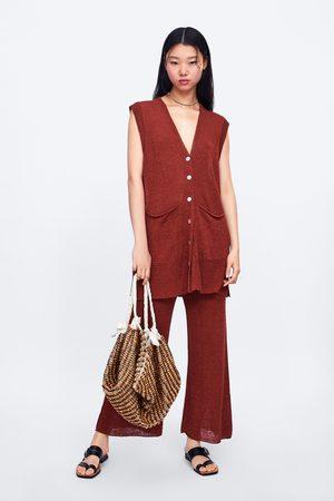 Zara Spodnie typu culotte z dzianiny
