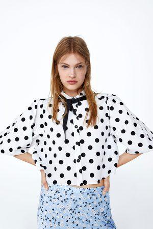 Zara Koszula o krótszym kroju w kropki