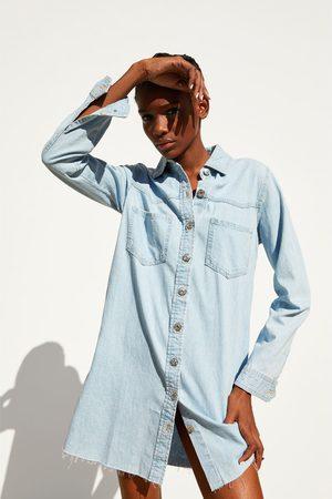 Zara Sukienka jeansowa