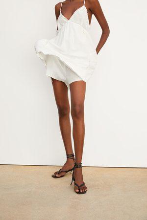 Zara Sukienka-kombinezon w stylu rustykalnym z haftem