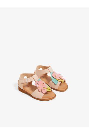 Zara Sandały z ozdobnymi liśćmi