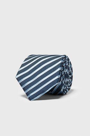 Zara Szeroki krawat w paski