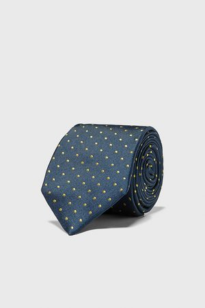 Zara Szeroki krawat w kropki