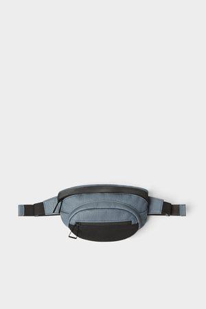 Zara Niebieska torebka typu nerka z siateczką