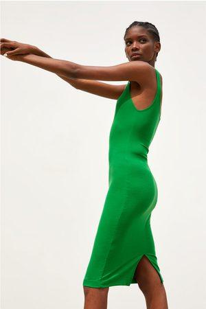 Zara Sukienka o kroju ołówkowym na ramiączkach