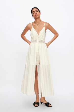 Zara Sukienka-kombinezon z koronki