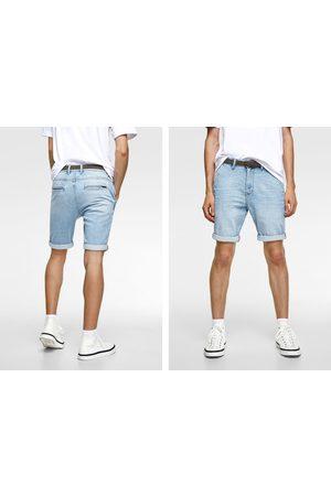 Zara Spodenki jeansowe z paskiem