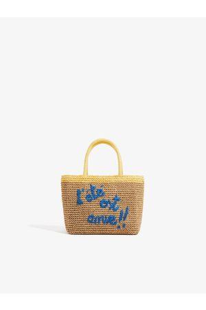 Zara Straw bag with slogan