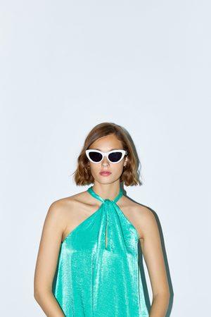 Zara Satynowa sukienka z dekoltem halter