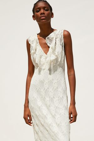 Zara Kobieta Sukienki - Koronkowa sukienka