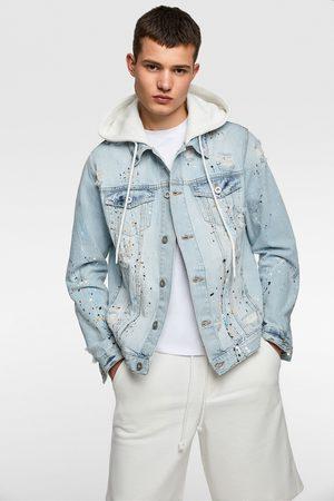 Zara Kurtka jeansowa z kapturem