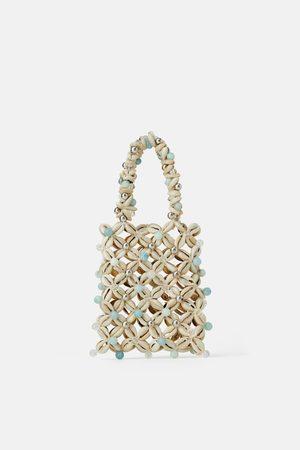 Zara Mini torebka do ręki z muszlami